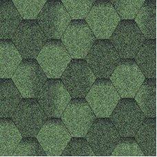 Бітумна черепиця Aquaizol Мозаїка Еко Зелена