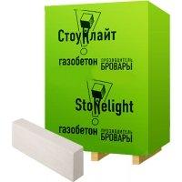 Газобетонний блок для перегородок Стоунлайт 600x200x100 мм D-500 гладкий