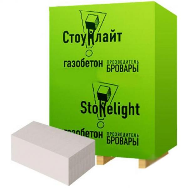Газобетонний блок для стін Стоунлайт 600x200x300 мм D-400 гладкий