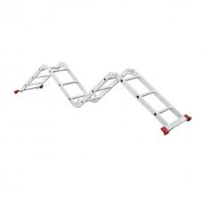 Драбина алюмінієва багатофункціональна трансформер 4x3 ступ., 3,50 м INTERTOOL LT-0030