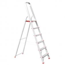 Стрем'янка алюмінієва 6 сходинок, висота до платформи 1280 мм INTERTOOL LT-1006