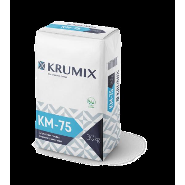 Штукатурка гіпсова для машинного нанесення Krumix КМ-75 30 кг