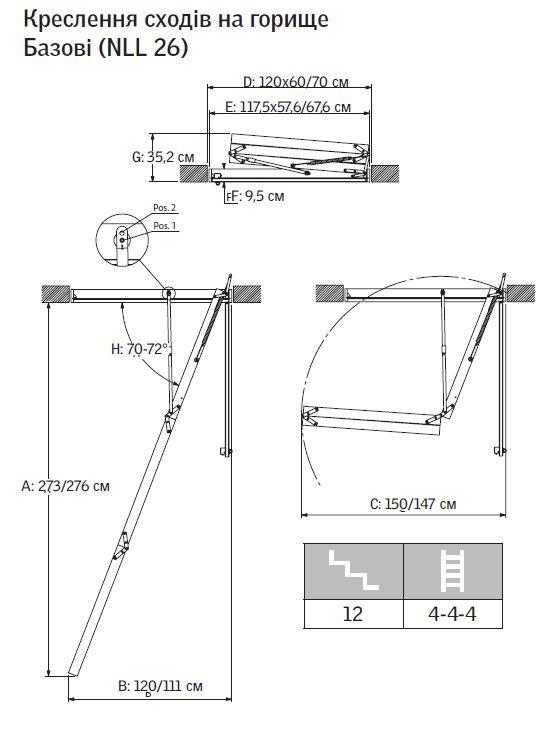 Чердачные складные лестницы своими руками чертежи